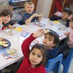 Kids having snack